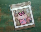 SALE! Cupcake Card, Cupcake Art Card, Cupcake Art, Whimsical Cupcake, Sale Card, Clearance Card, greeting card, note card, Make Cupcake