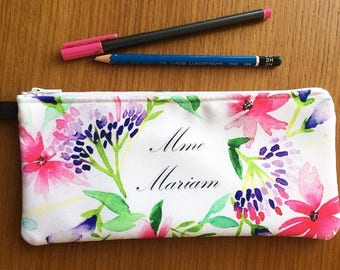 Pencil cases or makeup custom name