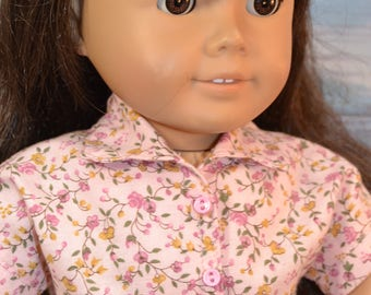 "Flowered Shirt and Jeans for Your 18"" Doll"