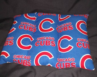 AM Naturals - Ouches Pouches - Large Rice Pack - Chicago Cubs w/ red satin