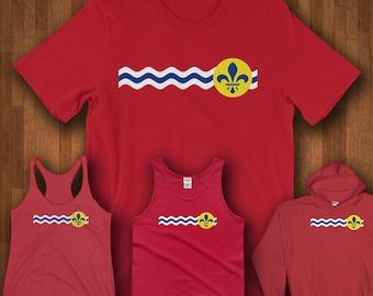 Camisas de St. Louis de camisas - bandera de la ciudad de Missouri de St. Louis - St. Louis
