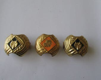 3 Vintage Scout Cubscout Scarf Rings Holders