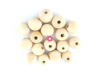 wood beads 50 x 10mm round