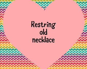 Restring old amber teething necklace