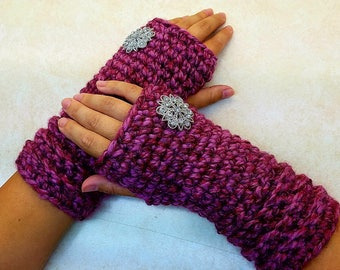 Crochet Wooly Warm Wristers Unisex Fingerless Gloves Crochet Pattern DIGITAL DOWNLOAD ONLY