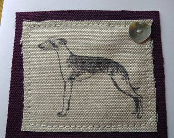 Long Dog/Lurcher greetings card