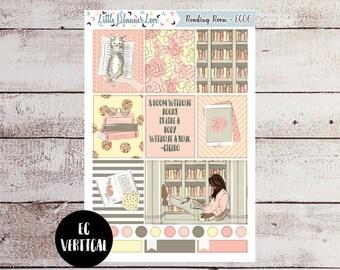 Reading Room Full Box Stickers for the EC Vertical - Dark Skin/Black Hair