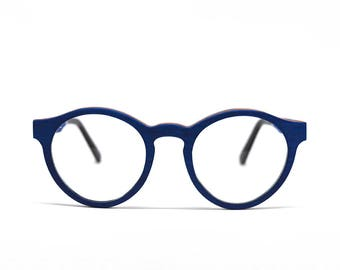 Blue Wooden Glasses Handmade Glasses Prescription Glasses Wood Eyeglasses Eco Eyeglasses Wooden Sunglasses Wood Frames Eco Eyewear