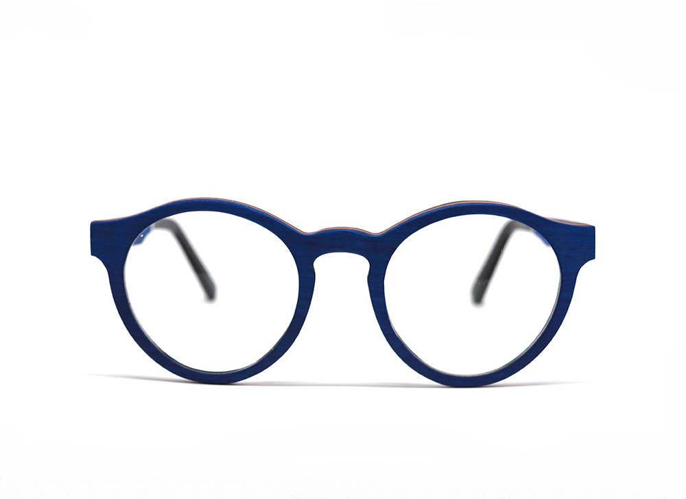 Blue Wooden Glasses Handmade Glasses Prescription Glasses Wood ...