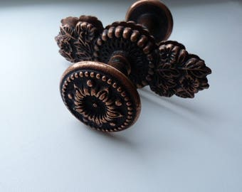Vintage Door Knobs. Metal  Door Handles.  Bronze Door Knob