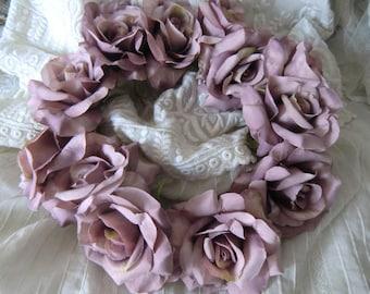 Romantic Roses Flower wreath flower crown silk flowers WATC shabby vintage look