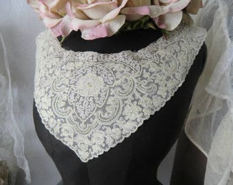 Creamy white Vintage of French lace ~ boudoir shabby chic