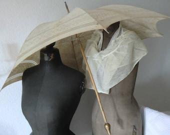 Vintage Beach Umbrella parasol Shabby chic in style JDL