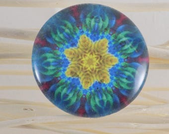 hand painted glass 35 mm cabochon