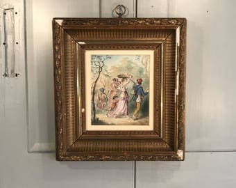 Antique 19th Century framed watercolour painting by James