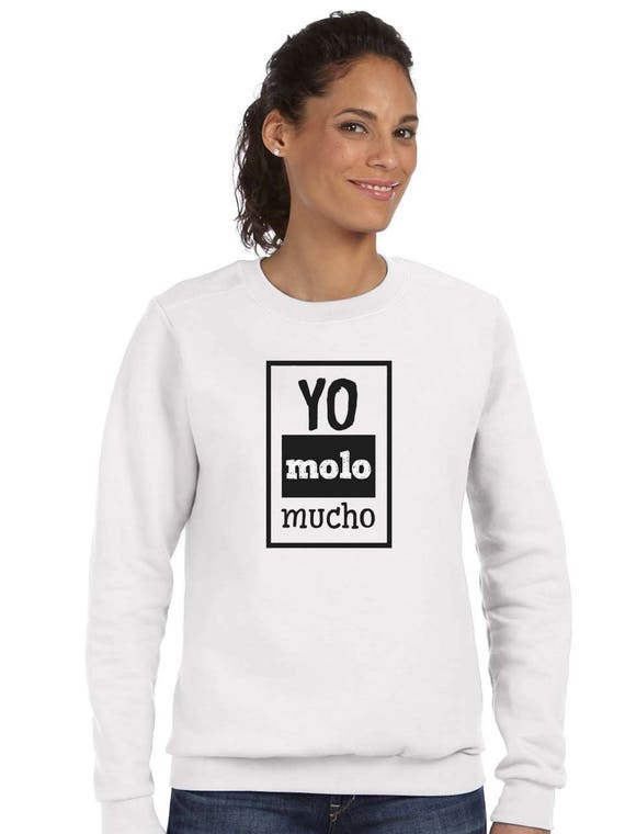 Round neck women sweater YO MOLO MUCHO