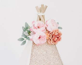 Peach and Pink DELUXE Floral Topper