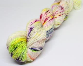 Sock superwash merino/nylon; Cake! 100g, hand dyed yarn