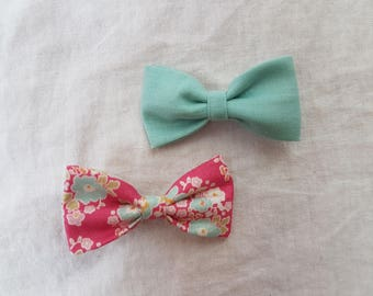 Bow ties, length approximately 6 cm Alligator Clips