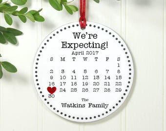 Best Pregnancy Gift, Best New Mom Gift, Best Gift For New Mom, Expecting Baby Ornamentt Pregnancy Ornament with calendr IBO2FS eco1