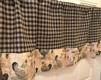 Rooster Valance Etsy