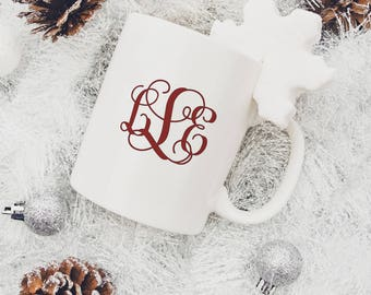 Monogrammed Coffee Mug for Her, Coffee Mug for Friend, Gift for Coworker, Gift for Her, Gift for Boss, Personalized Gift