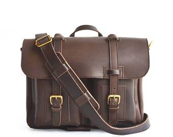 Organizer Briefcase, Handmade Briefcase, Leather Briefcase, Mens Briefcase, Womens Briefcase, Messenger Bag, Multi-pocket Briefcase
