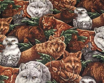 Wildlife Lined Placemat, Bowl Mitt, Hot Pad, Matching Lined Table Runner