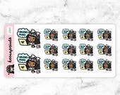 20% OFF L024 | Holiday mood stickers - LILY Tired stickers, Stressed stickers, Sleepy stickers, Planner stickers, Bullet Journal stickers