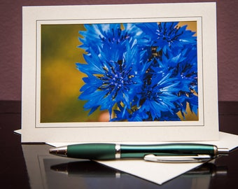Cornflower No.1-Greeting cards-Note Cards-Flower-Nature-Happy Birthday-Family-Love-Photo Card-Floral-Wedding-Celebration-Congratulation-Gift
