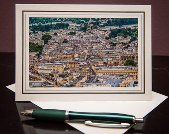 Bath City GC-Greeting Card-Note Card-Travel-Home Office Decor-Matted Art Print-Gift-Photo-Art-UK-England-Architecture-Roman City-History