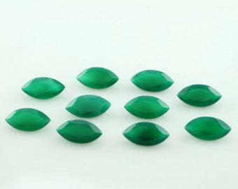 15-P Wholesale Lot Of Natural Green Onyx marquise cut Faceted Loose Gemstone for jewelry