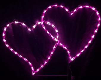 Valentine's Day Double Hearts Wireframe Outdoor Holiday Yard Decoration Commercial Quality