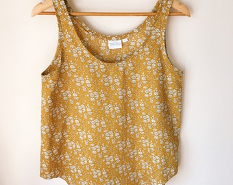 AUDREY Handmade Women's Liberty of London Print Tank Top Tana Lawn Blouse