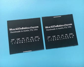 300 Custom fabric labels, Satin labels, Satin printed labels, Care wash labels, Printing label tags, Sew in clothing labels