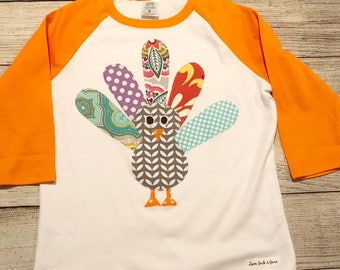 Thanksgiving outfit girl, turkey shirt girl, fall outfit girl, girl turkey raglan