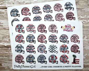 New England Patriots NFL Schedule Planner Stickers