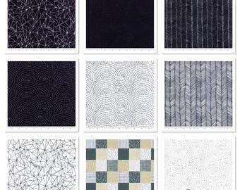 Catnip- Black/White- 9 Fat Quarters- Gingiber- Moda Fabrics