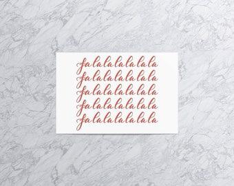 Falalalalalalalala (Version 1) | Christmas Card and Envelope