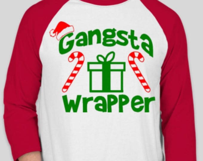 Gangsta Wrapper Baseball Tee