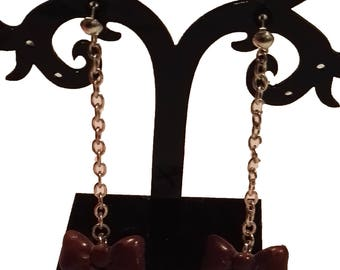 knot pendant earrings Brown