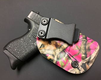 SALE ! M&P Shield (40/9mm) Smith and Wesson Kydex Holster - Pink CAMO / IWB / ccw
