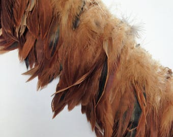 "25"" Bronze Coque Feather Boa"