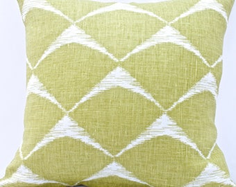 "Apple Green Croissant Cushion Cover. Fits an 18""x18"" pillow insert."