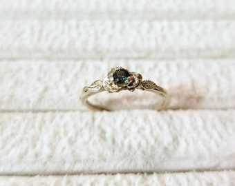 Sterling silver Montana Sapphire Ring