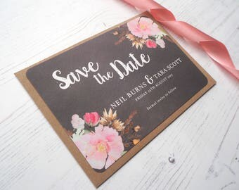 Chalk Pretty Posie Save the Date - SAMPLE