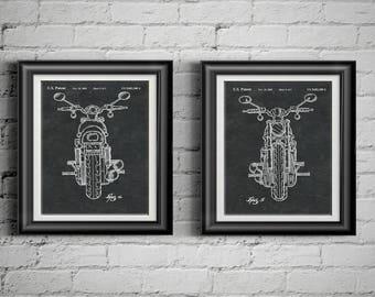 Harley Patent Harley Poster Harley Davidson Art V Rod Motorcycle Decoration  Gift 4 Man Cave Part 61
