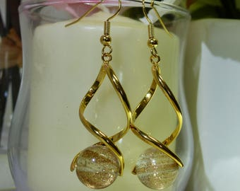 Glitter And Sparkle Gold Earrings