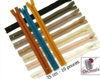 50%, (1.10 reg), 35cm, zipper, YKK, KKF,  #3, 14 inchs, varied color, varied size, nylon, perfect for wallets, clothing, repair, creation,
