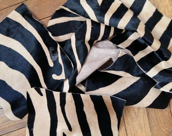BELLES CHUTES DE Cuir Facon Zebre